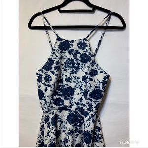 Lulu's Dresses - Lulu's Extra Small Blue & White Dress Adjustable